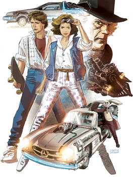 Back to the Future Concept Sketch
