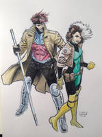 Gambit and Rogue by DustinWeaver