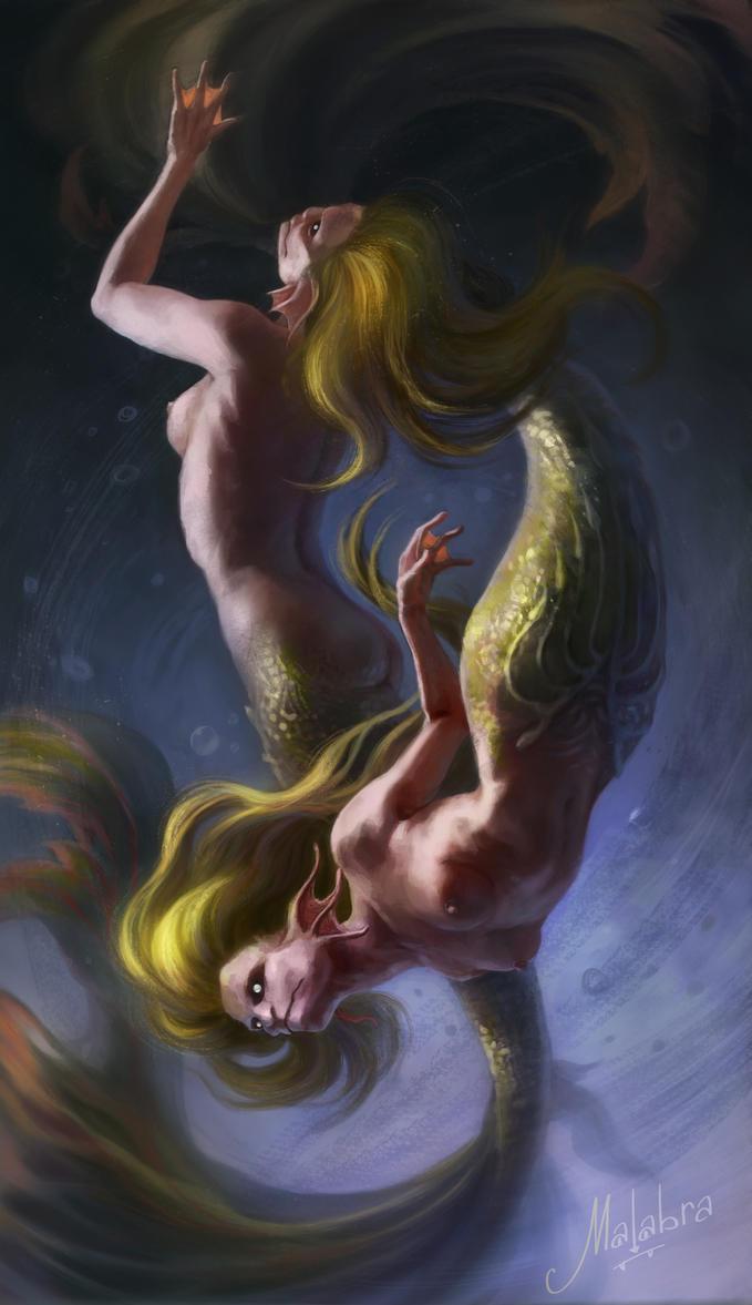 Dancing Mermaids by Malabra