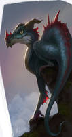 Dragon sketch by Malabra