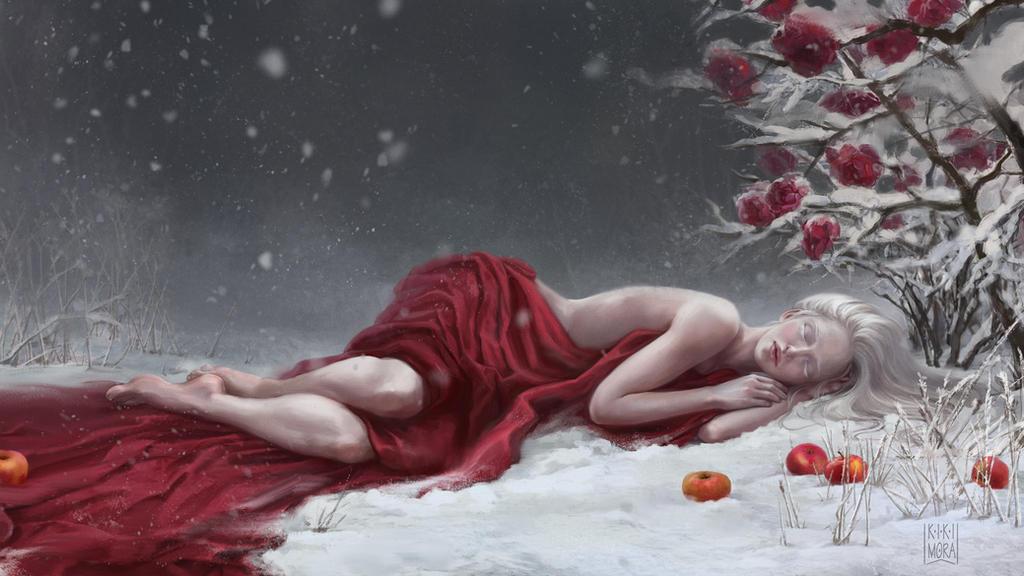 Winter rose by Malabra
