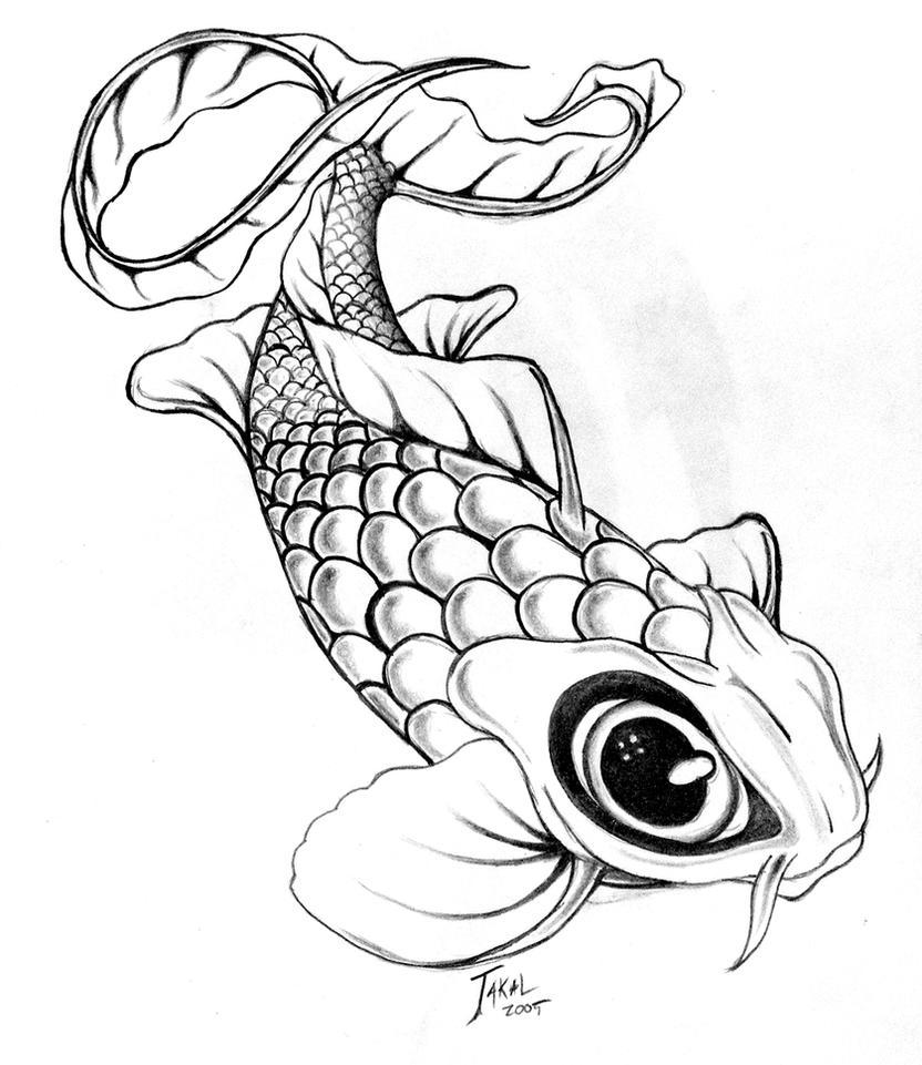 Koi by ericjackman on deviantart for Japanese koi fish drawing
