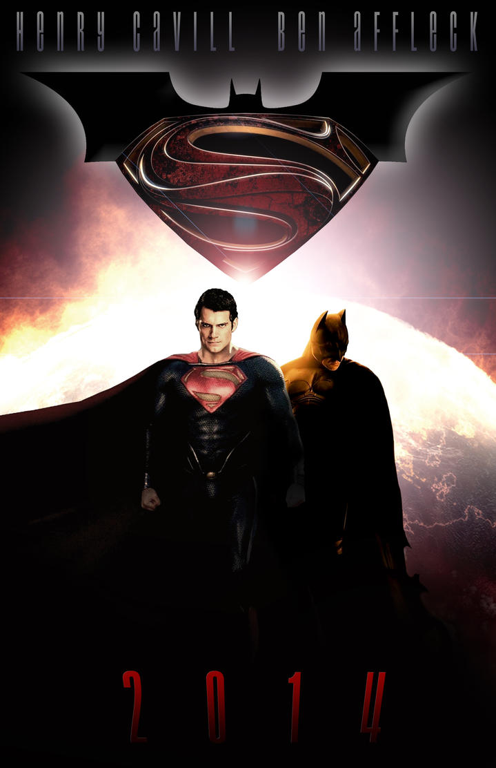 Man Of Steel/Dark Knight Fan Art Movie Poster by ericjackman