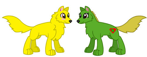 Lightning and Jungle as Wolfs by Z-Shadow-0