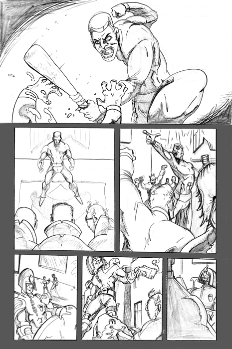 Judge Dredd Sample Pages 3 by JonoTheHumanTorch