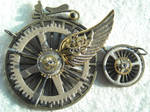 steampunk flying bicicle