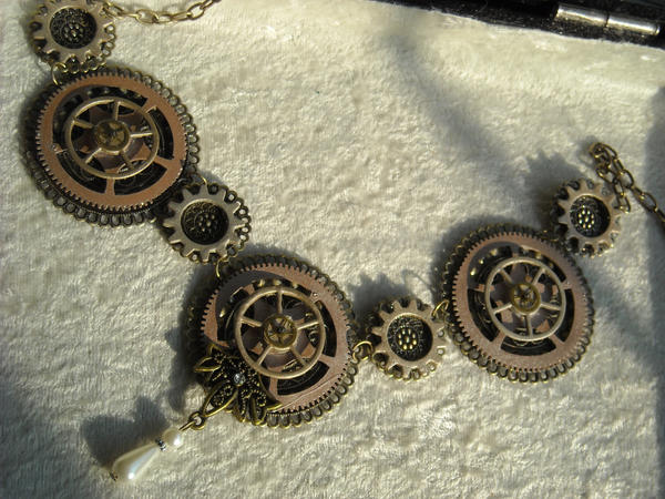 big circle gears SP necklace by TimelessCharm
