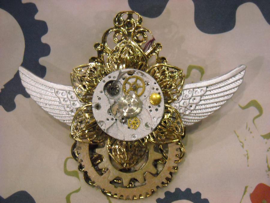 steampunk golden flower wings by TimelessCharm