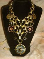 steampunk golden compass net by TimelessCharm