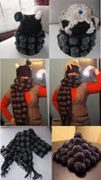 Dalek Reversible Hat and Scarf