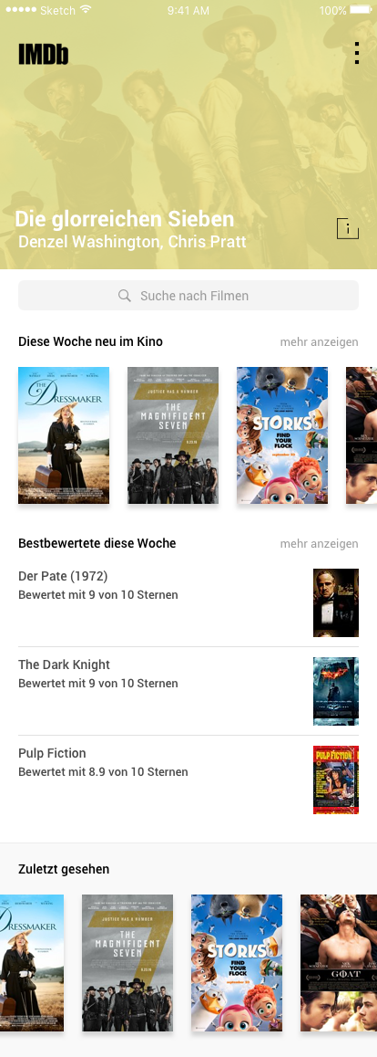 IMDb - Mobile App UI by AdnanDesign