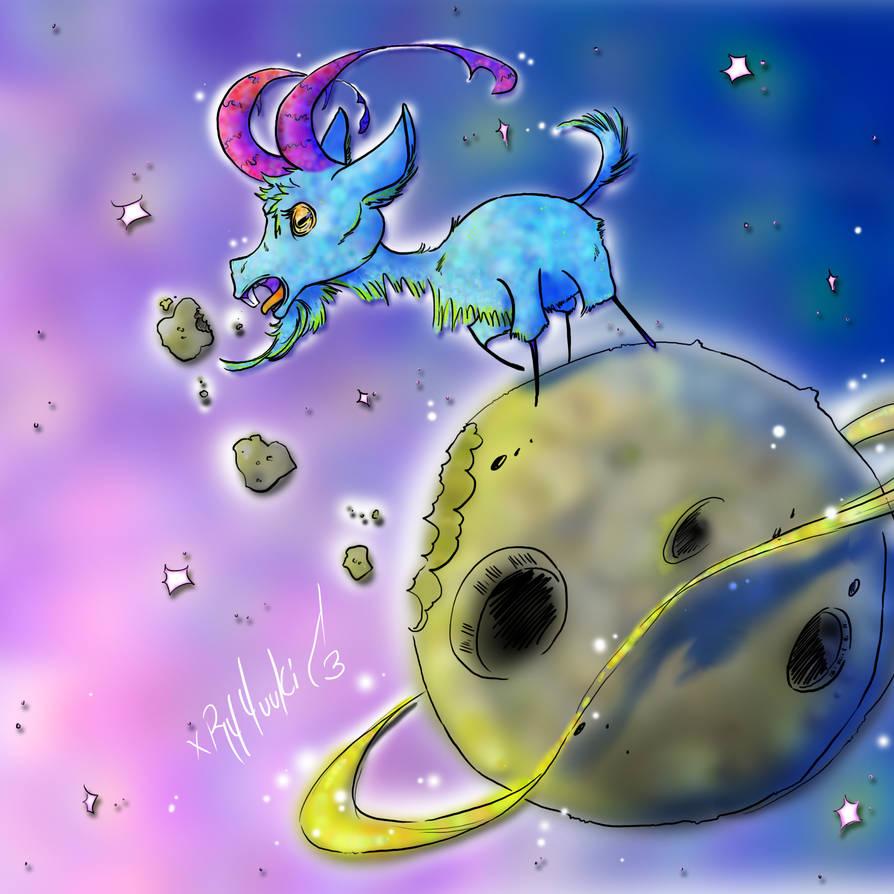 Space Goat by NekoKyuubi9 on DeviantArt