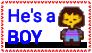 Frisk is a Boy stamp by CherryChrista