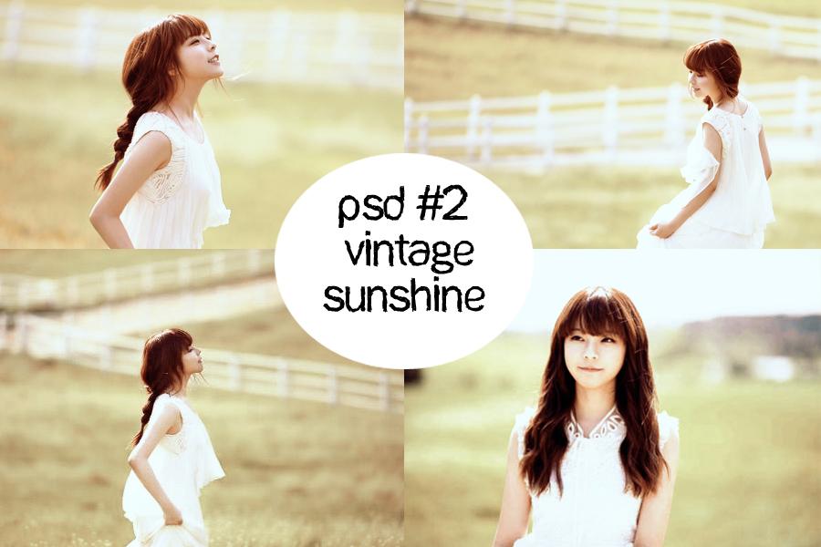 PSD#2 Vintage Sunshine by minminlovehunhan