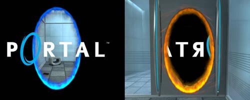 Portal dual screen wallpaper by cozmicone