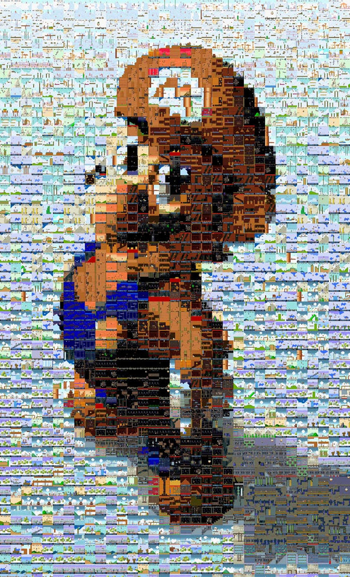 Mario mosaic by cozmicone