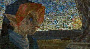 Ocarina of Time Link mosaic
