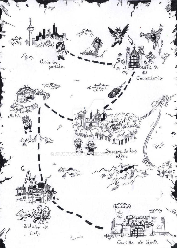 Mapa Escondida (Saga reina de las sombras I) by cloudywolf