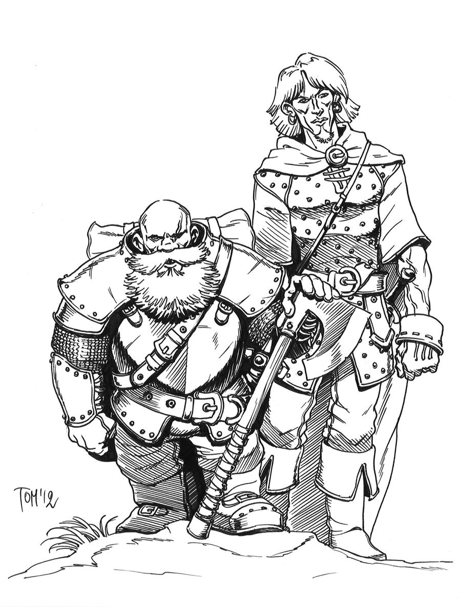 TOEE: Grunor and Felix by SOLIDToM