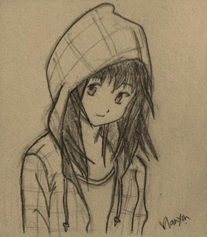 Hoodie girl by aoinokokoro