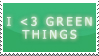 I love green things stamp by Lylla4