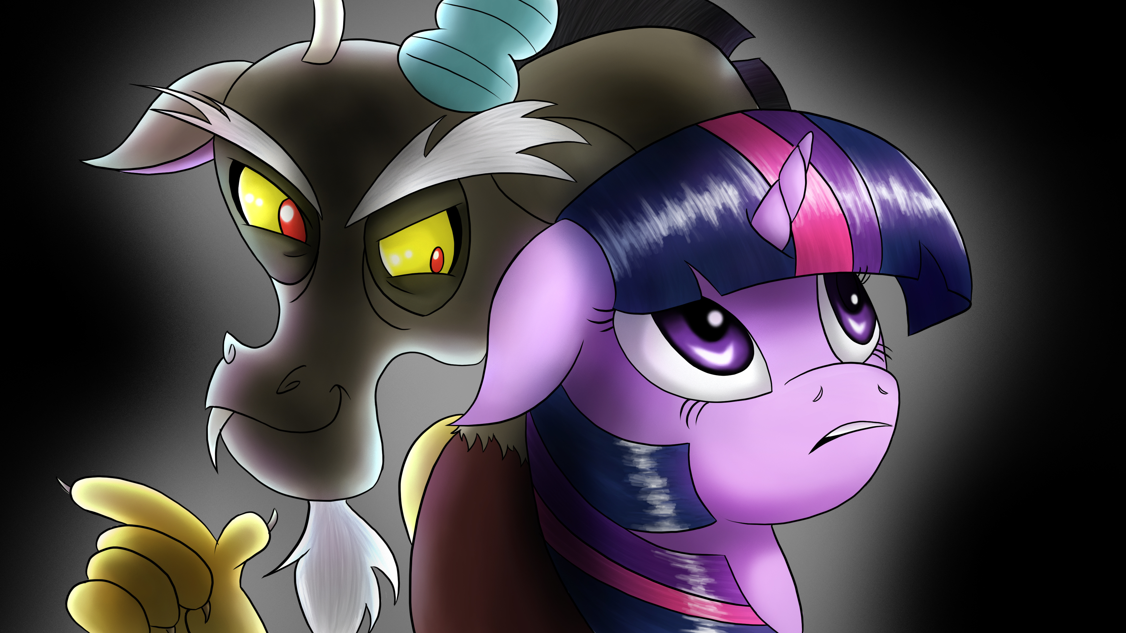 Twilight Sparkle And Discord In Love Twilight and Di...