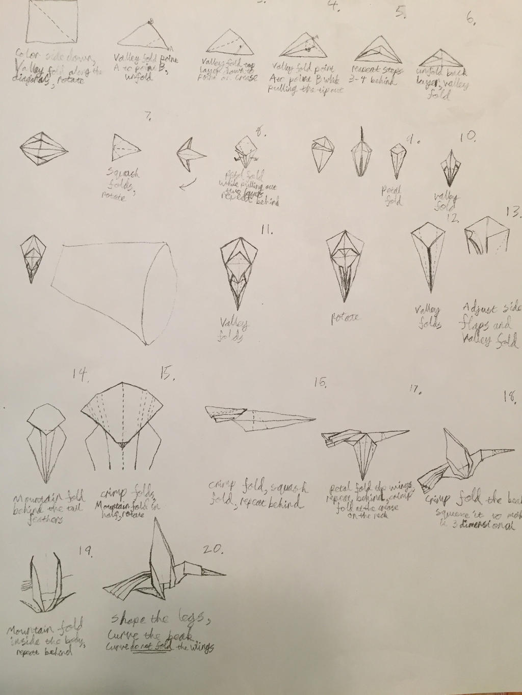Origami hummingbird instructions by Brickgenius27 on ... - photo#24