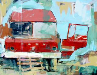 Red Truck by Dtellesen