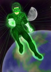 Kyle Rayner  -Green Lantern by Kyokono-Bade