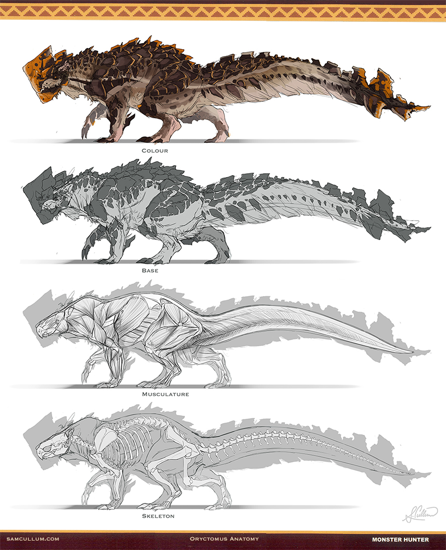 Oryctomus anatomy by samsantala on deviantart for Decorations monster hunter world