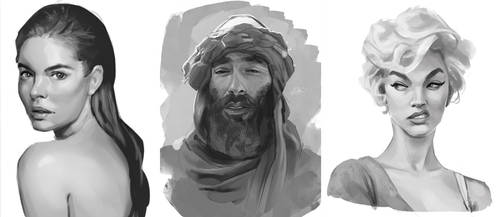 Portrait Studies #2 by SamSantala