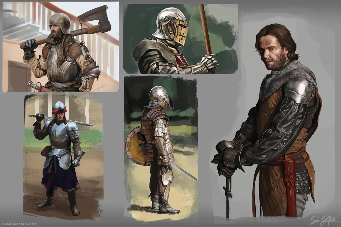Armour Studies by SamSantala