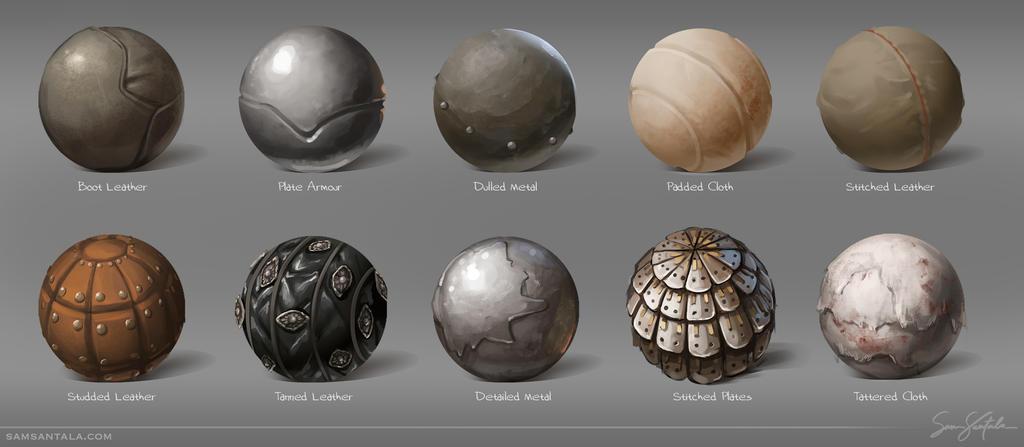 Armour Material Spheres by SamSantala