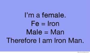 Female = Ironman