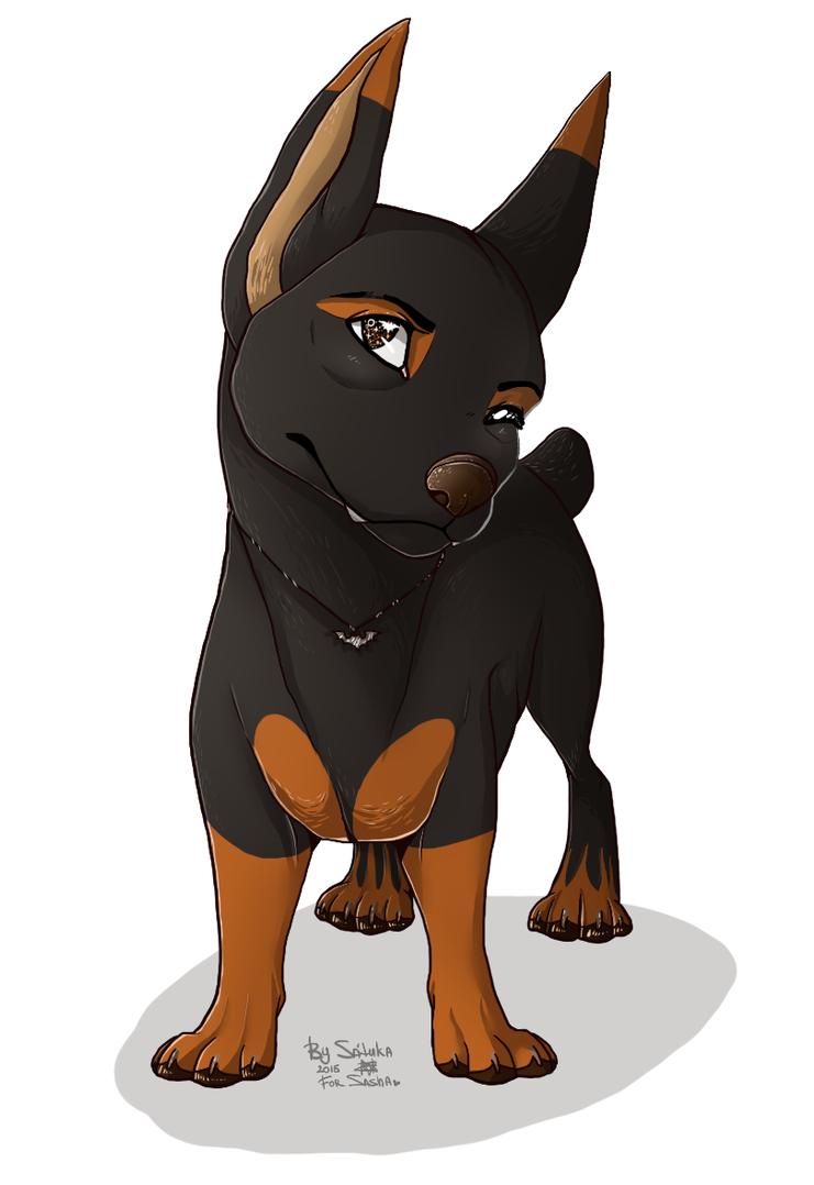charming dog by Satuka