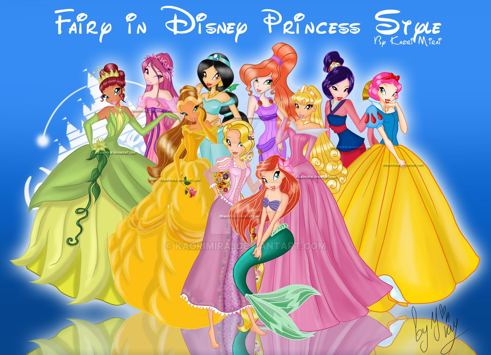 Fairy in Disney Princess Style by KaoriMirai on DeviantArt