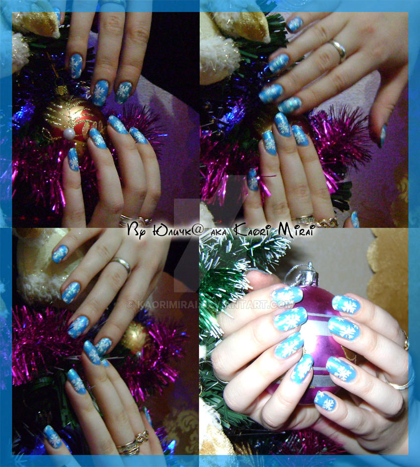 Winter nails by KaoriMirai