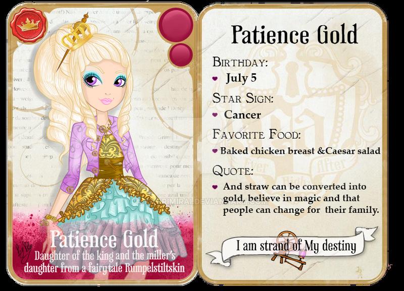 EAH OC - Patience Gold - Gard by KaoriMirai