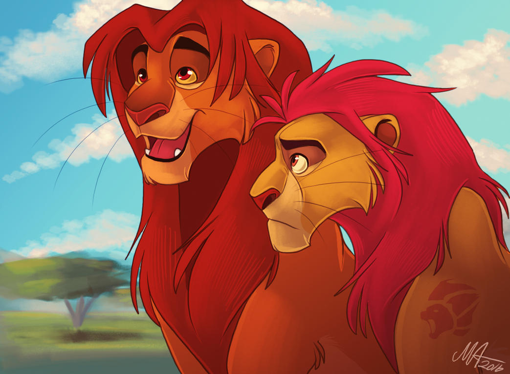 Simba and kion by missartsyy on deviantart - Kion le roi lion ...