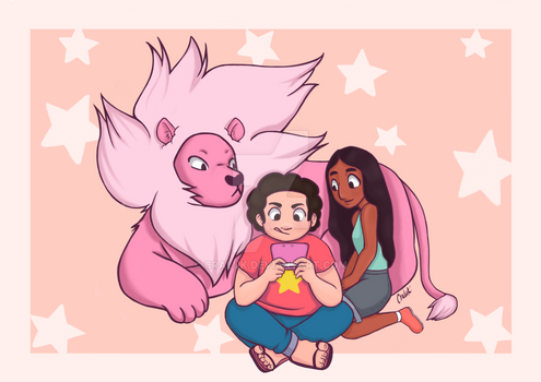 Steven, connie and lion