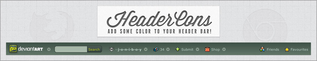 HeaderCons - Add some color to dA's header bar!