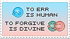 To err is human, to forgive is divine by jonarific