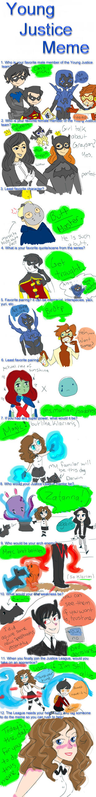 Young Justice Meme by bookpixie