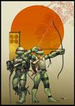 TMNT.Leo and Raph. PRINT. by martegod