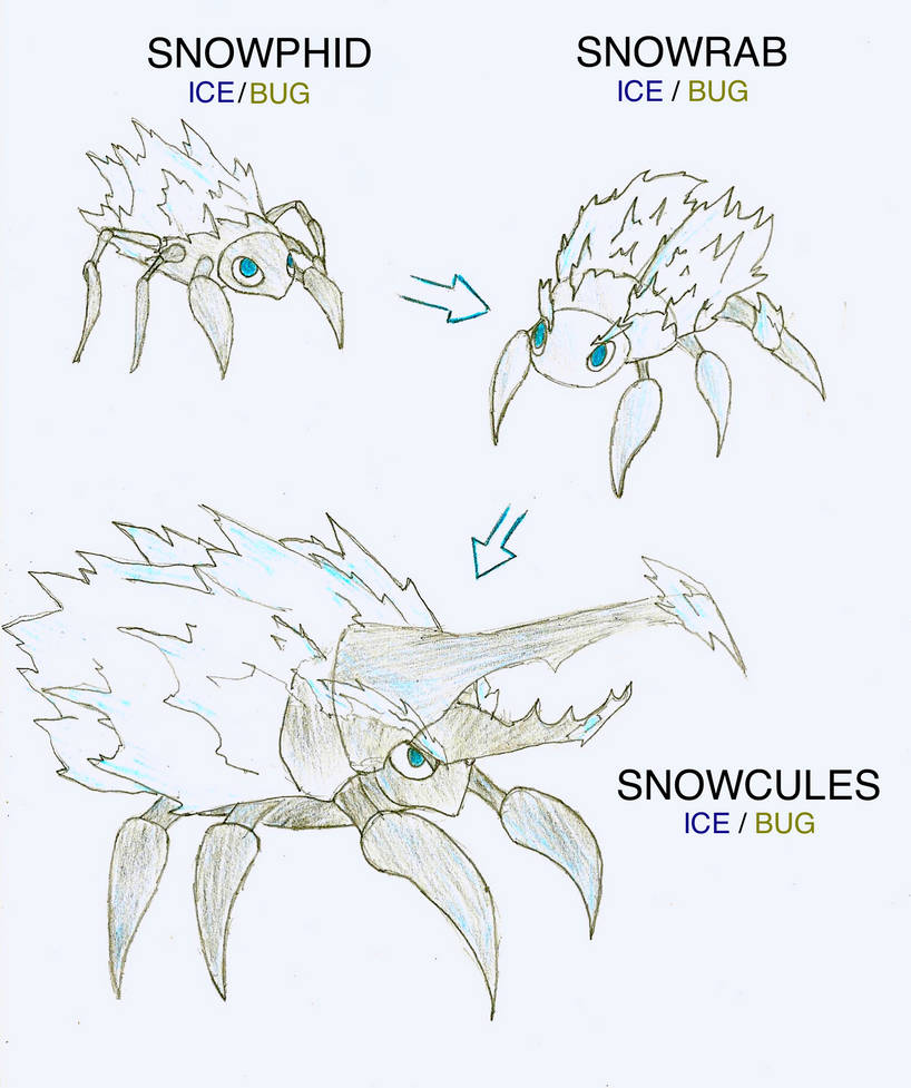 fakemon: ice starters by drawbba-the-hutt