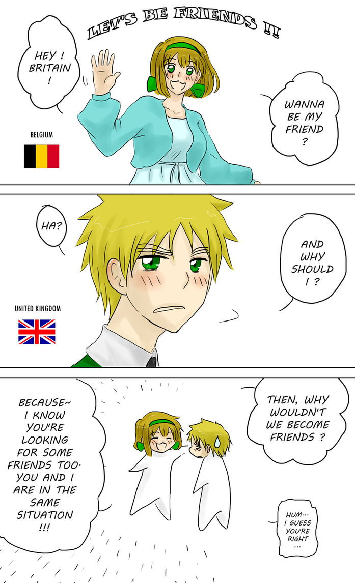 Hetalia let s be friends england by megane no buta