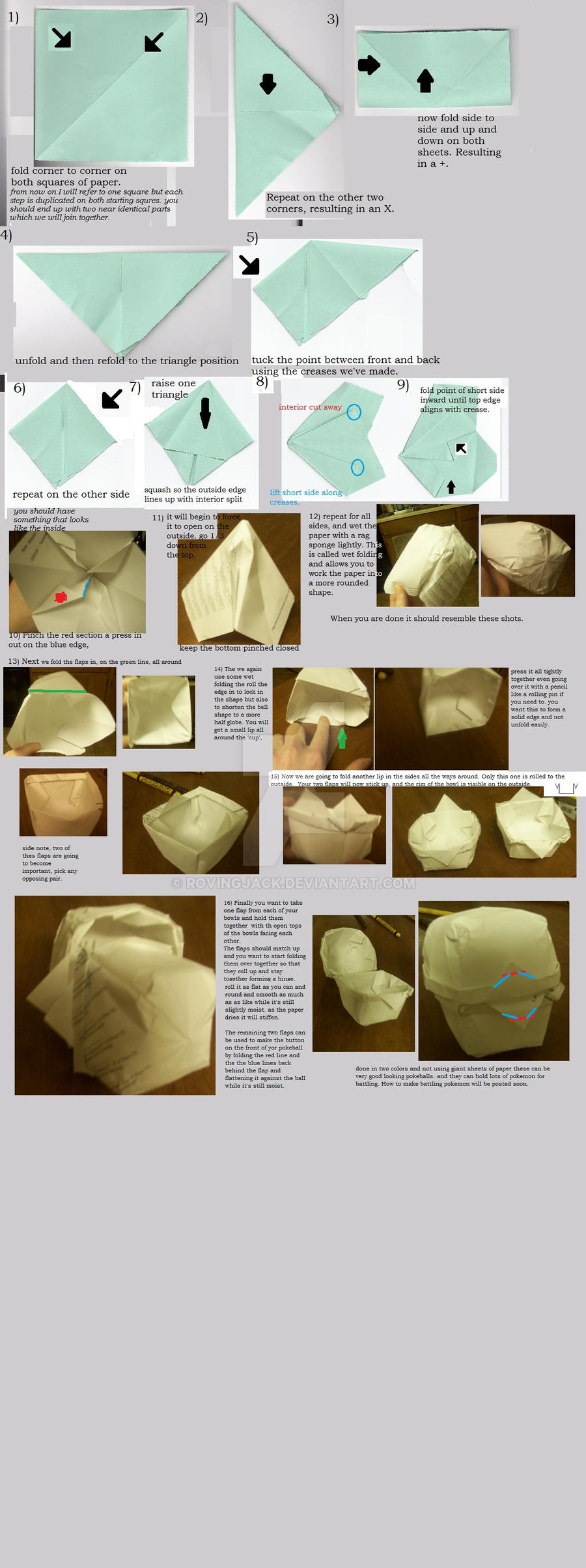 How 2 Make An Origami Pokeball By RovingJack