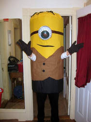 almost finished steampunk minion costume