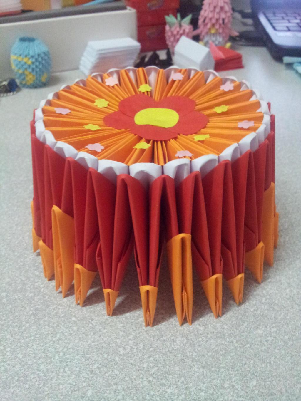 3D Origami - Birthday Cake by leexiuzhen on DeviantArt - photo#16
