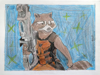 Rocket Raccoon Drawing by Ag3ntAn0nym0us